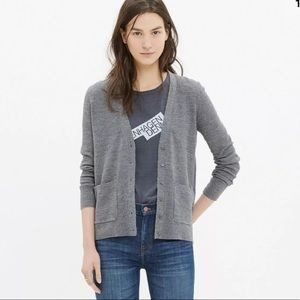 Madewell Spring Weight Button Cardigan Sweater XS